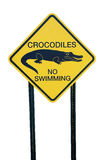 Crocodiles warning sign Royalty Free Stock Photography