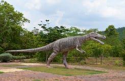 Crocodilia dinosaur. Statue crocodilia dinosaur in Dinosaur park thailand Stock Photography
