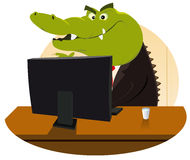 Crocodilo Bankster Imagens de Stock