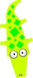 Crocodilo - clipart do vetor Fotos de Stock Royalty Free