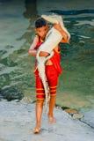 Crocodilo com criança 3 imagem de stock