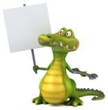 Crocodilo do divertimento ilustração royalty free