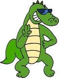Crocodilo dos óculos de sol Foto de Stock Royalty Free