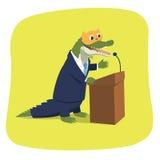 Crocodilo em uma máscara do gatinho Imagem de Stock Royalty Free