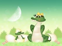 Crocodilo no ovo ilustração stock