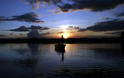 crocs钓鱼 免版税库存图片
