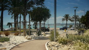 Crocs de Gagnes boulevard, Cote D'Azur, France stock video footage