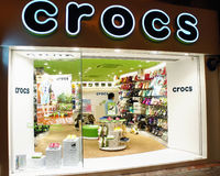 Crocs shop Stock Images
