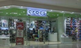 Crocs sklep przy Gaisano centrum handlowym w Davao mieście Obraz Stock
