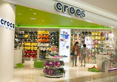Crocs store inside a shopping mall in Hangzhou, China Royalty Free Stock Photography