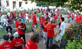 Crod at Labor Day Parade Stock Photo