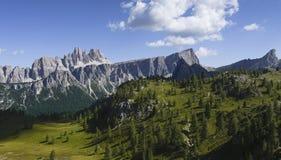 Croda da Lago, Dolomites. Beautiful view of the Croda da Lago, Dolomites - Italy stock photography