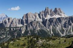 Croda da Lago, Dolomites Arkivbild