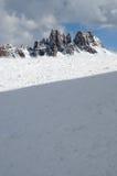 Croda da Lago & Lastoni di Formin,白云岩,在冬天,威尼托 库存照片