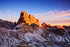 Croda dei Toni evening Royalty Free Stock Images
