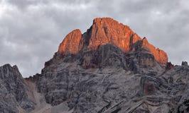 Croda Rossa, Dolomites. Stock Image
