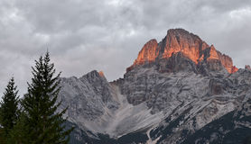 Croda Rossa, Dolomites. Royalty Free Stock Images