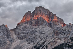 Croda Rossa, Dolomites. Royalty Free Stock Image