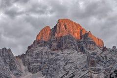 Croda Rossa, Dolomites. Stock Photo