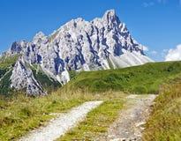 Crode Dei Longerin - Alpi Carniche of Karnische Alpen Royalty-vrije Stock Foto's