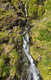 Croesor Waterfall. Water cascade in Cwm Croesor. Snowdonia National Park, Gwynedd, North Wales, United Kingdom. This is a slate mining area Royalty Free Stock Image
