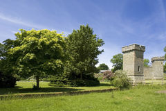 Croft Castle. Yarpole near Leominster Herefordshire Castellated manor house set in extensive parkland Stock Image