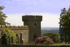 Croft Castle. Yarpole near Leominster Herefordshire Castellated manor house set in extensive parkland Stock Photo