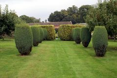 Croft Castle garden in England Royalty Free Stock Photography