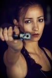 Croft Cosplay di Lara Immagine Stock Libera da Diritti