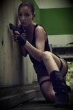 Croft Cosplay di Lara Fotografie Stock Libere da Diritti