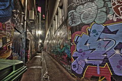 Croft de Straat Melbourne HDR van Steeggraffity Royalty-vrije Stock Foto