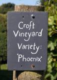 Croft Grodowy winnica, Herefordshire zdjęcie royalty free