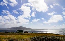Croft na wyspie niebo fotografia stock