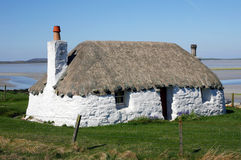 Crofter's Cottage, Hebrides. Traditionally built crofter's cottage, North Uist, Outer Hebrides Royalty Free Stock Images