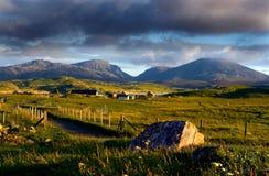 crofting село lewis Шотландии острова Стоковая Фотография RF