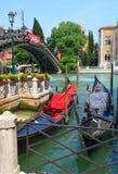 Crogioli di gondola a Venezia Immagini Stock