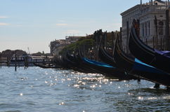 Crogioli di gondola a Venezia Italia Fotografie Stock