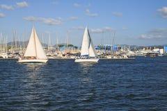 Crogioli di vela Fotografia Stock