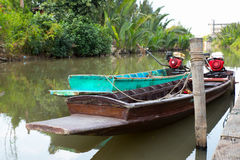 Crogiolo di coda lunga nel fiume di Chaopraya Fotografia Stock