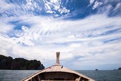 Crogiolo di coda lunga sul viaggio della Tailandia Immagine Stock