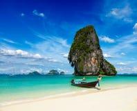 Crogiolo di coda lunga sulla spiaggia, Tailandia Fotografia Stock