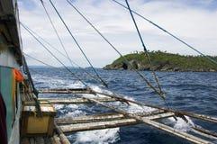 Crogiolo di pompa ed isola delle Filippine Fotografia Stock