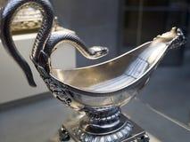 Crogiolo di sugo d'argento di lusso Fotografia Stock Libera da Diritti
