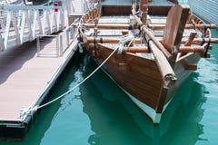 Crogiolo di vela di legno Fotografia Stock