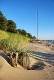 Crogiolo di vela sulla spiaggia di Michigan di lago Fotografia Stock Libera da Diritti