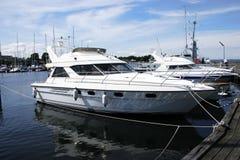 Crogiolo di yacht del motore Fotografie Stock