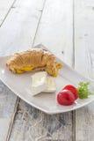 Croisant三明治 免版税库存照片