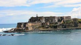 Croisant après le castillo De San Felipe del morro, chez San Juan Puerto Rico clips vidéos
