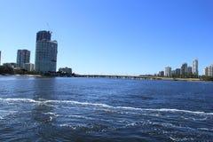 Croisant en rivière de Nerang, surfers paradis, la Gold Coast Photo stock