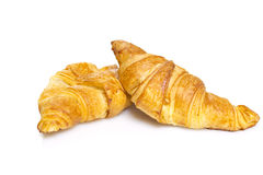 Croisant isolated on white bakground Stock Image